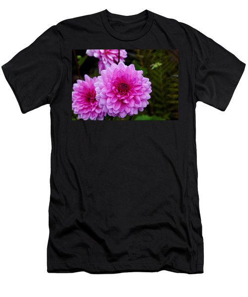 Pink Dahlias Men's T-Shirt (Athletic Fit)