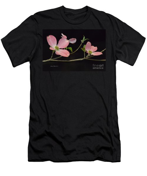 Men's T-Shirt (Slim Fit) featuring the photograph Pink Dogwood Branch  by Jeannie Rhode