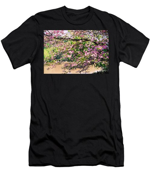 Pink Dogwood I Men's T-Shirt (Slim Fit) by Anita Lewis