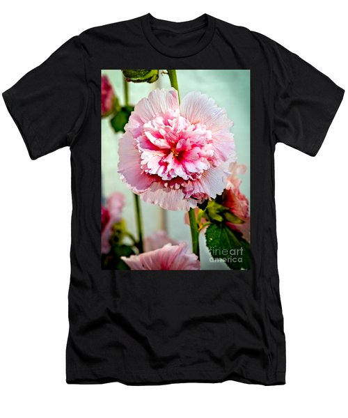 Pink Double Hollyhock Men's T-Shirt (Athletic Fit)