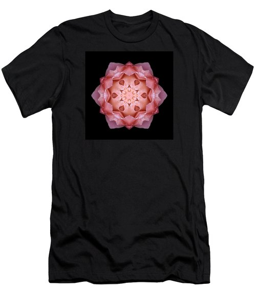 Pink Fall Rose Flower Mandala Men's T-Shirt (Athletic Fit)