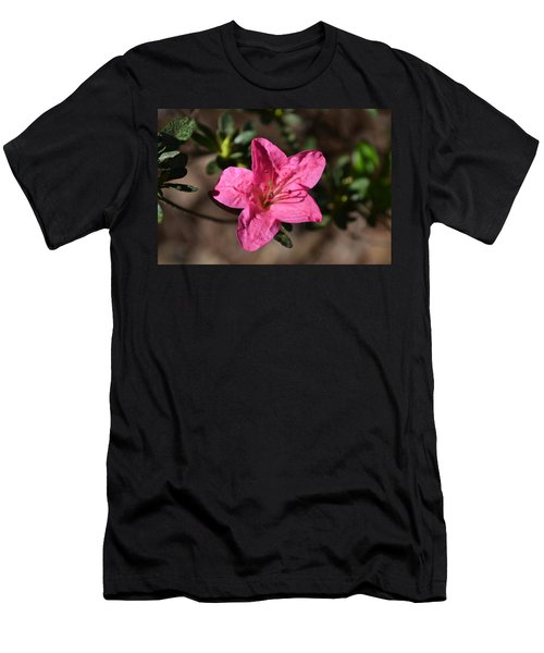Men's T-Shirt (Slim Fit) featuring the photograph Pink Flower by Tara Potts