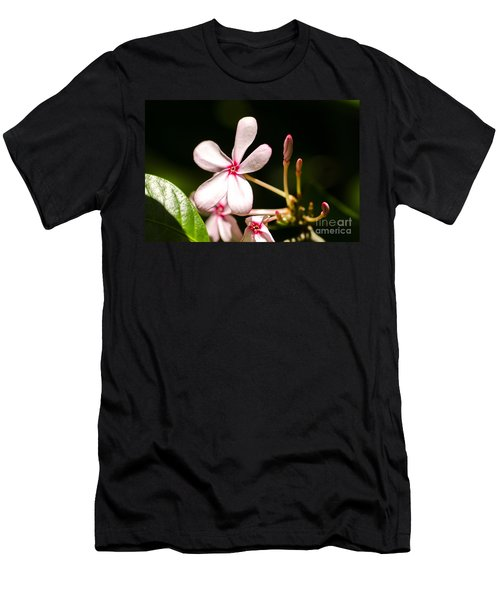 Pink Flower Men's T-Shirt (Athletic Fit)
