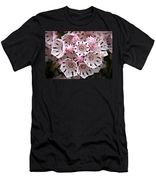Pink Flowered Mountain Laurel Men's T-Shirt (Athletic Fit)