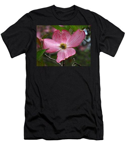 Pink Flowering Dogwood Men's T-Shirt (Athletic Fit)