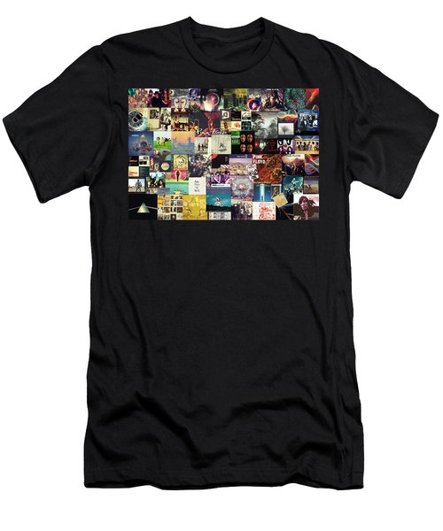 Pink Floyd Collage I Men's T-Shirt (Athletic Fit)