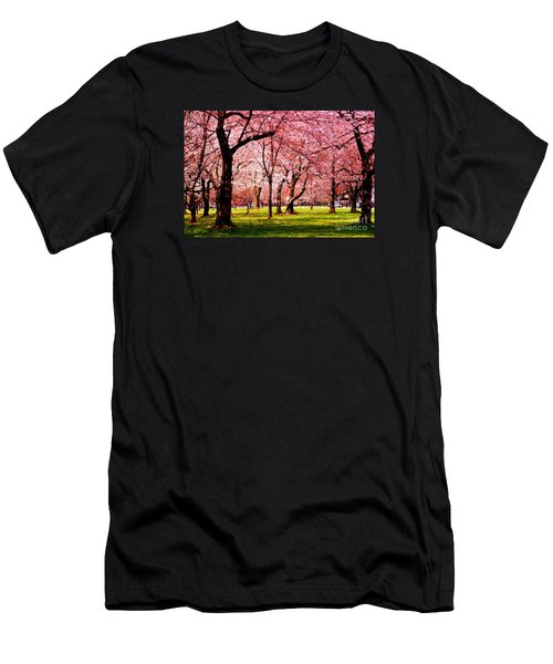 Pink Forest Men's T-Shirt (Slim Fit) by Patti Whitten