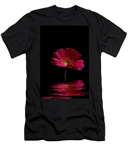 Pink Gerbera Flood 1 Men's T-Shirt (Slim Fit)