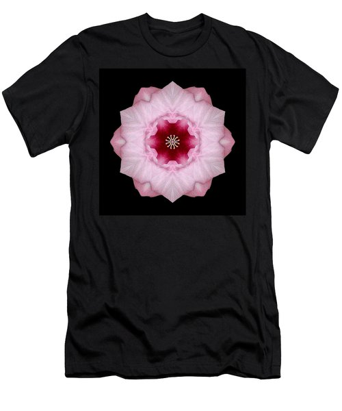 Pink Hibiscus I Flower Mandala Men's T-Shirt (Athletic Fit)