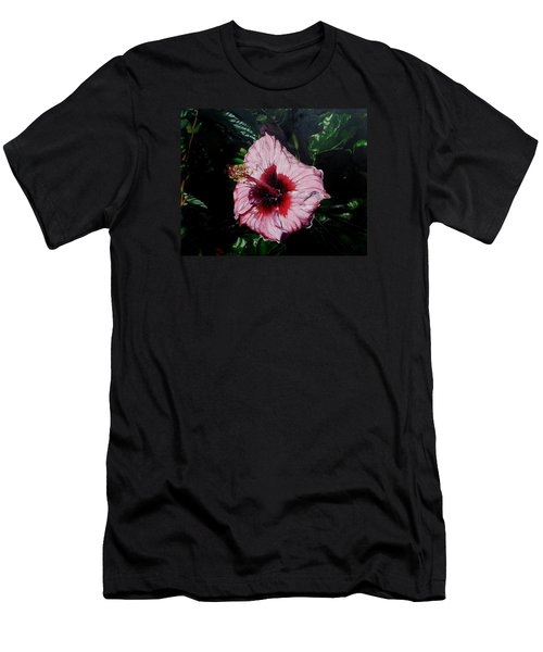 Pink Hibiscus Men's T-Shirt (Slim Fit) by Raymond Perez