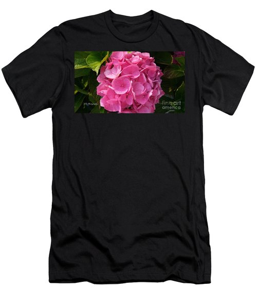 Men's T-Shirt (Slim Fit) featuring the photograph Blushing Rose by Jeannie Rhode