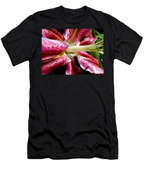 Pink Lily Macro Men's T-Shirt (Athletic Fit)