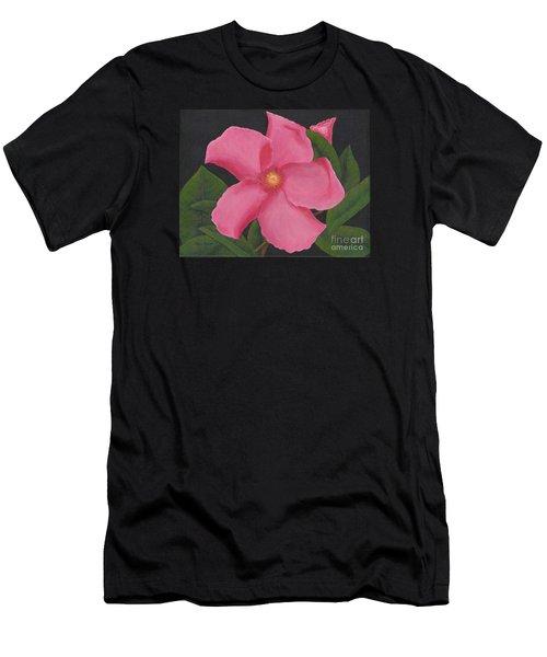 Pink Mandevilla Men's T-Shirt (Slim Fit) by Billinda Brandli DeVillez