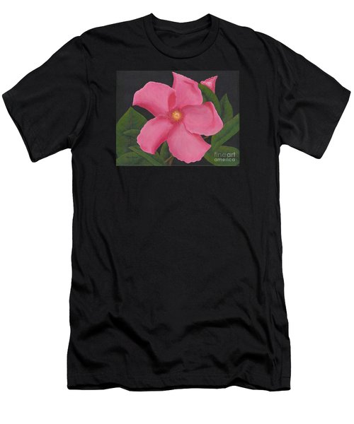 Pink Mandevilla Men's T-Shirt (Athletic Fit)