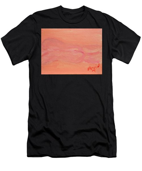 Pink Nude On Orange Men's T-Shirt (Athletic Fit)