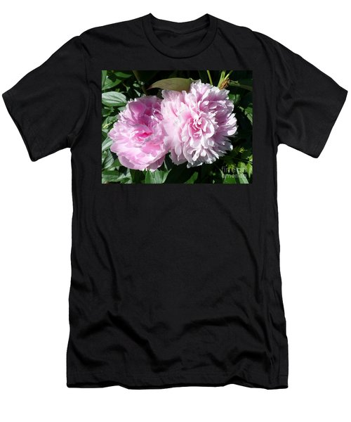 Pink Peonies 3 Men's T-Shirt (Slim Fit) by HEVi FineArt