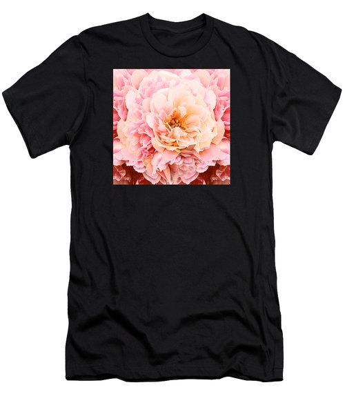 Pink Peony Men's T-Shirt (Athletic Fit)