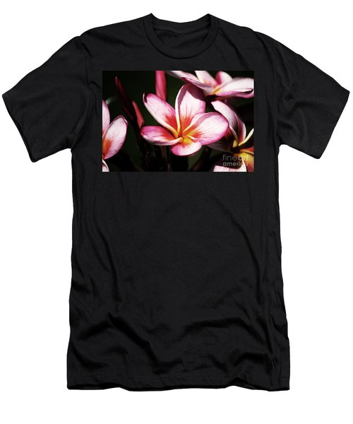 Men's T-Shirt (Slim Fit) featuring the photograph Pink Plumeria by Angela DeFrias