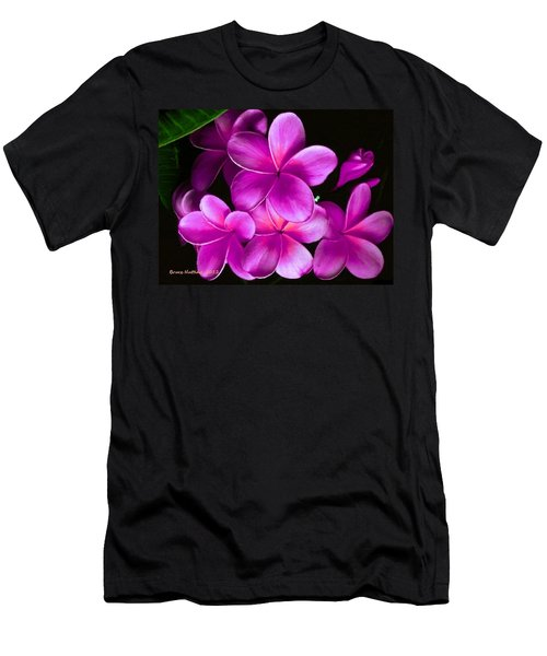 Pink Plumeria Men's T-Shirt (Athletic Fit)