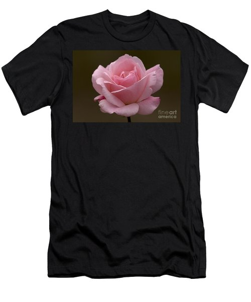 Men's T-Shirt (Slim Fit) featuring the photograph Pink Rose by Meg Rousher