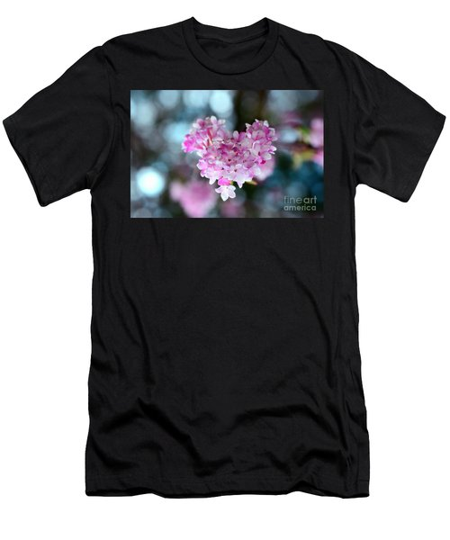 Pink Spring Heart Men's T-Shirt (Athletic Fit)
