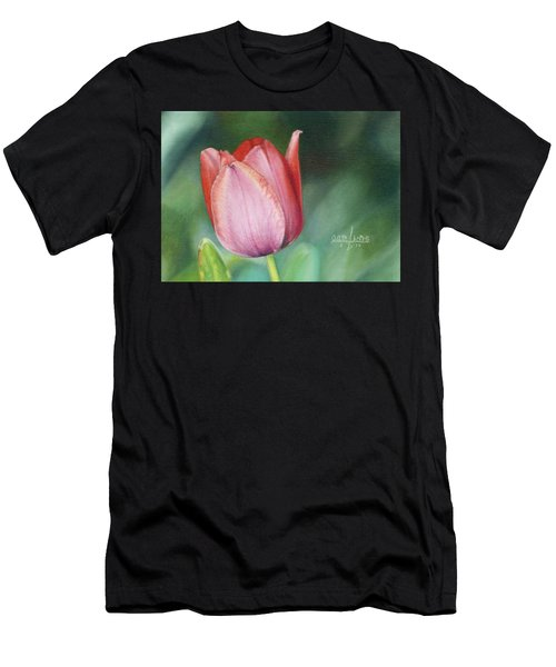 Pink Tulip Men's T-Shirt (Athletic Fit)