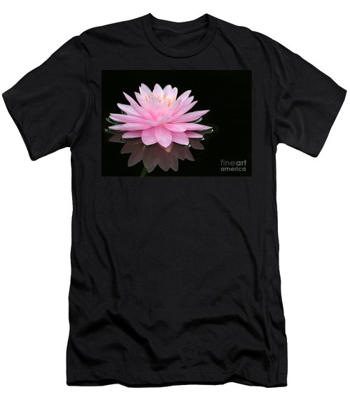 Pink Water Lily In A Dark Pond Men's T-Shirt (Athletic Fit)