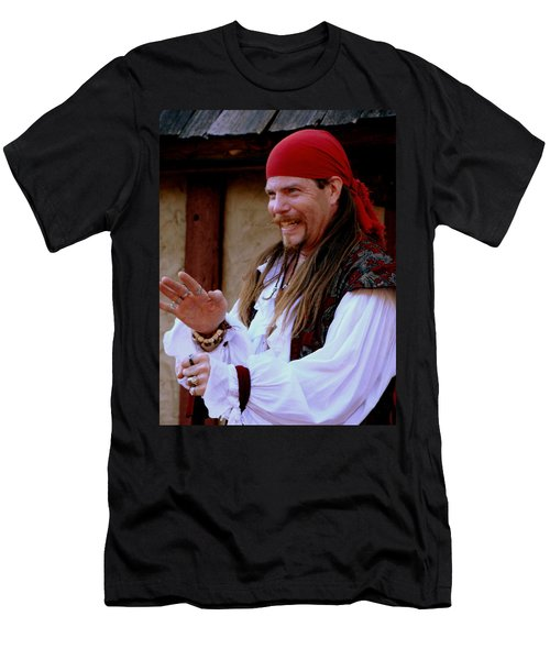 Pirate Shantyman Men's T-Shirt (Slim Fit) by Rodney Lee Williams
