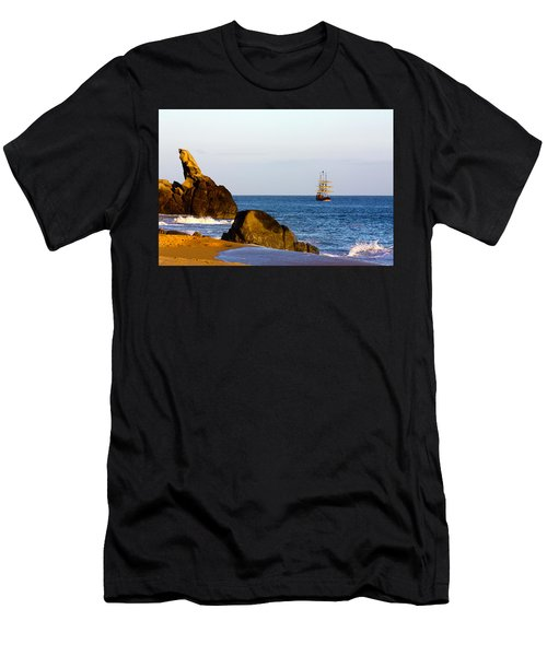 Pirate Ship In Cabo Men's T-Shirt (Athletic Fit)