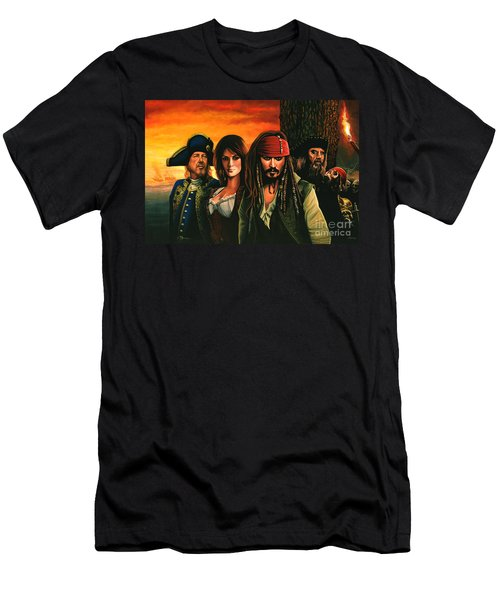 Pirates Of The Caribbean  Men's T-Shirt (Slim Fit) by Paul Meijering