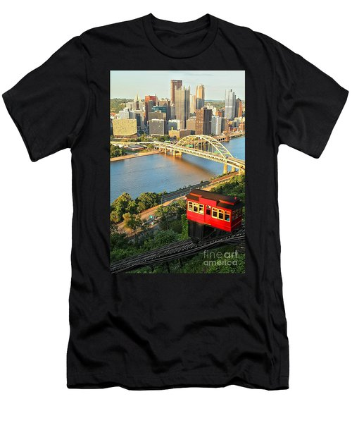 Pittsburgh Duquesne Incline Men's T-Shirt (Athletic Fit)