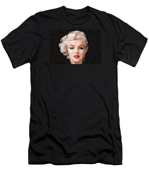 Pixelated Marilyn Men's T-Shirt (Athletic Fit)