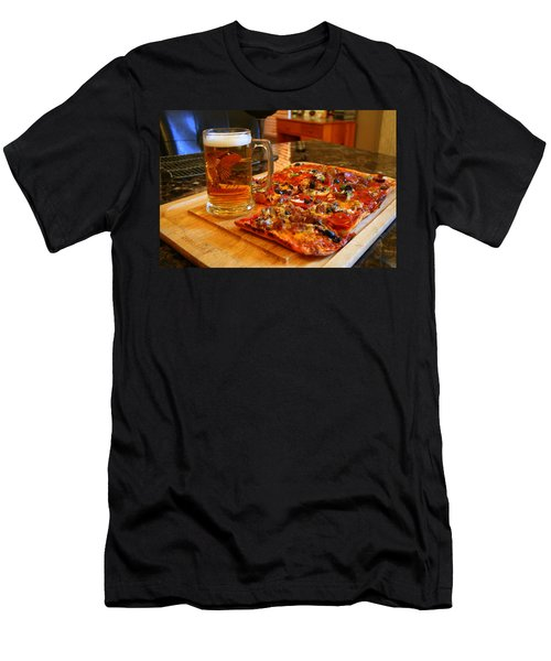 Pizza And Beer Men's T-Shirt (Athletic Fit)