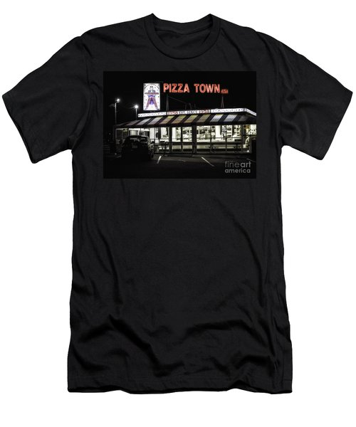 Pizza Town Men's T-Shirt (Athletic Fit)