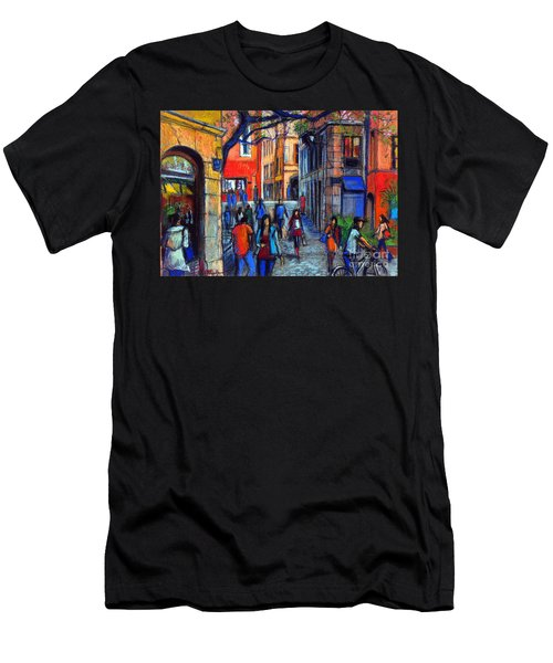 Place Du Petit College In Lyon Men's T-Shirt (Athletic Fit)