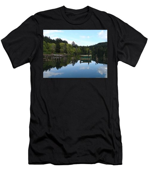 Place Of The Blue Grouse Men's T-Shirt (Slim Fit) by Cheryl Hoyle
