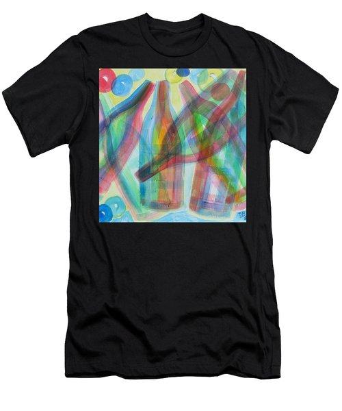 Plaid Wine Men's T-Shirt (Athletic Fit)