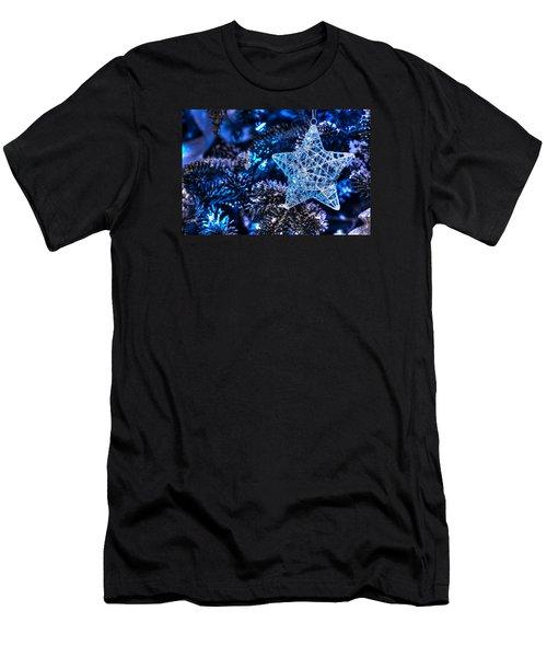 Blue Christmas Men's T-Shirt (Athletic Fit)