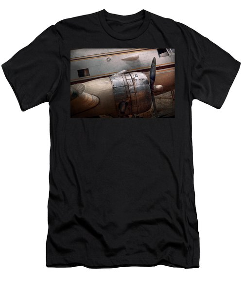 Men's T-Shirt (Slim Fit) featuring the photograph Plane - A Little Rough Around The Edges by Mike Savad