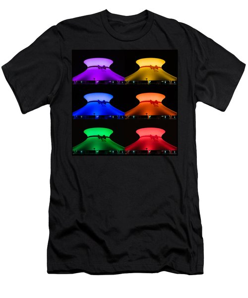 Men's T-Shirt (Slim Fit) featuring the photograph Planetarium Rainbow by Scott Rackers