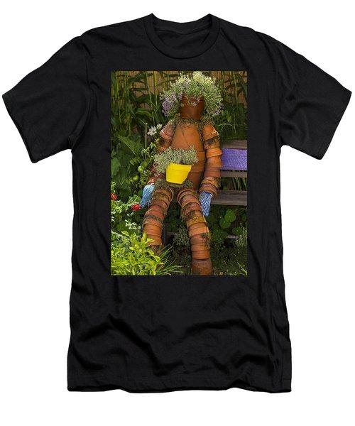 Planter Pot Man Men's T-Shirt (Athletic Fit)