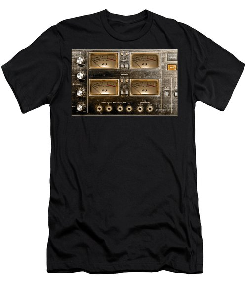 Playback Recording Vu Meters Grunge Men's T-Shirt (Athletic Fit)