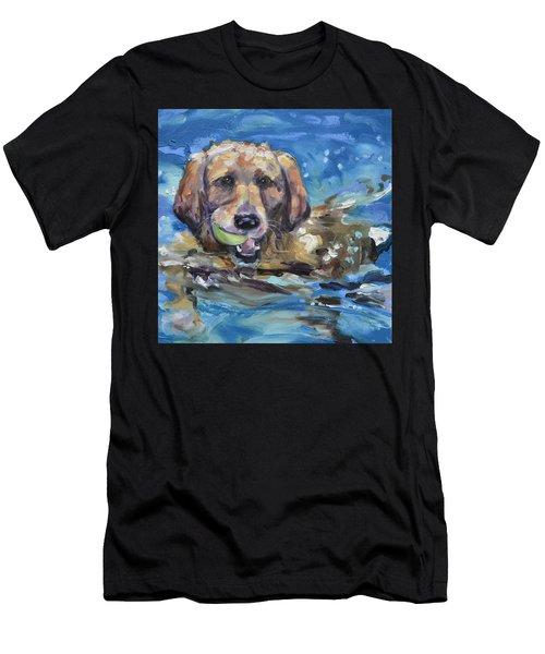 Playful Retriever Men's T-Shirt (Athletic Fit)
