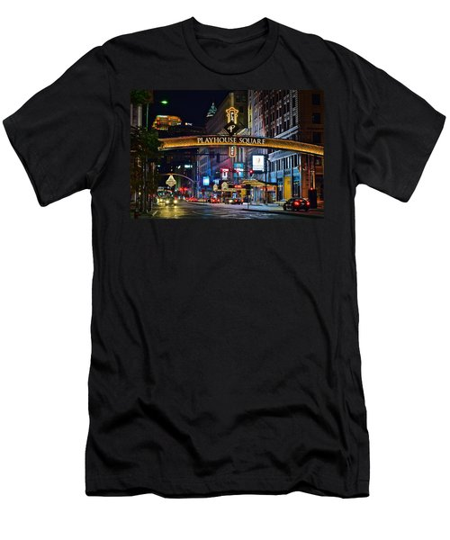Playhouse Square Men's T-Shirt (Slim Fit) by Frozen in Time Fine Art Photography
