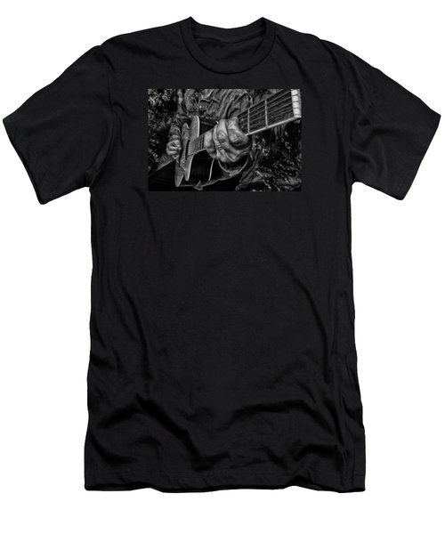 Playin The Blues Men's T-Shirt (Slim Fit) by Kevin Cable