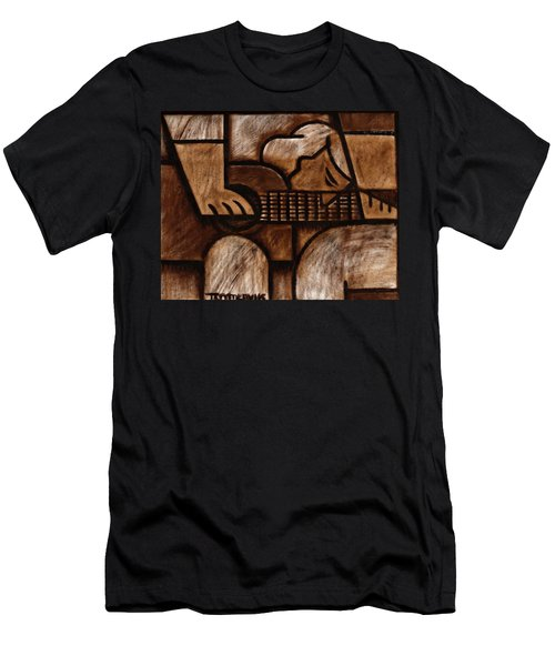 Tommervik Man Playing Acoustic Guitar Art Men's T-Shirt (Athletic Fit)