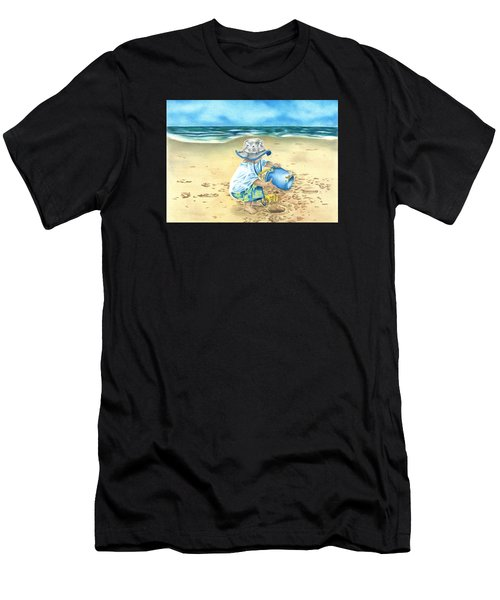 Playing On The Beach Men's T-Shirt (Athletic Fit)