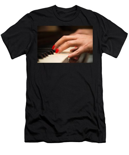 Playing The Piano Men's T-Shirt (Athletic Fit)