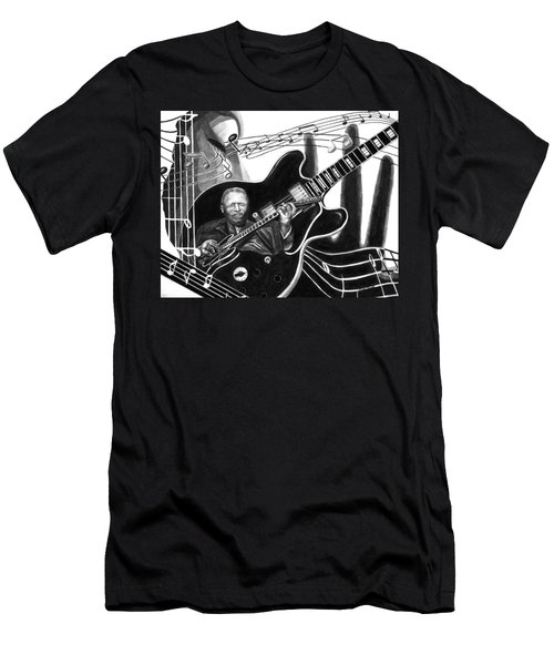 Playing With Lucille - Bb King Men's T-Shirt (Slim Fit) by Peter Piatt