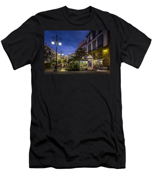 Plaza De Las Flores Cadiz Spain Men's T-Shirt (Athletic Fit)